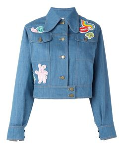 Olympia Le-Tan | Beaded Patch Denim Jacket 36