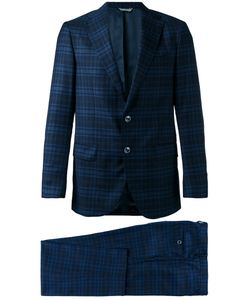 Fashion Clinic Timeless | Two-Piece Plaid Suit Size 54 Silk/Viscose/Virgin