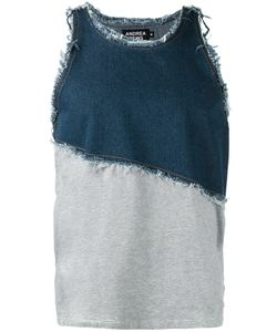 Andrea Crews | Frayed Denim Tank Large