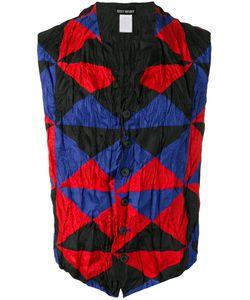 Issey Miyake Vintage   Triangle Check Print Waistcoat Medium
