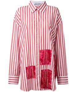 Mikio Sakabe | Oversized Devoré Patch Stripe Shirt Size Large