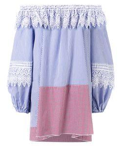 Forte Couture   Striped Off Shoulder Dress