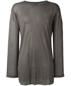 Ann Demeulemeester Blanche   Long Sleeve T-Shirt Small Lyocell