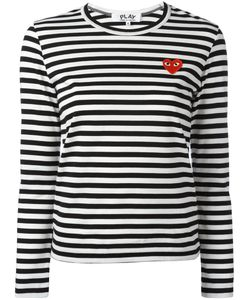 Comme Des Garçons Play | Logo Stamp Striped Top