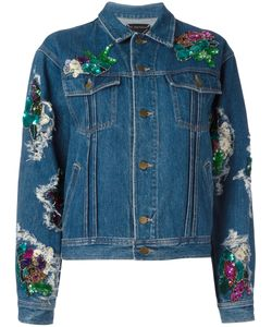 Night Market | Foral Patches Denim Jacket Xs