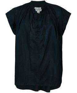 Nili Lotan | Lace-Up T-Shirt Size Medium