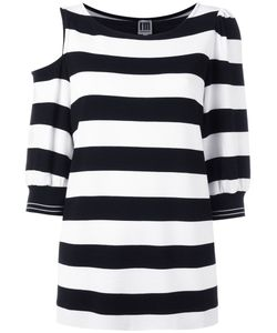 I'M Isola Marras | Striped Cold Shoulder Top Size Large