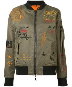 Haculla | Embroidered Bomber Jacket Size Xs