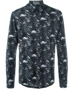 Les Hommes Urban | Marble Print Shirt