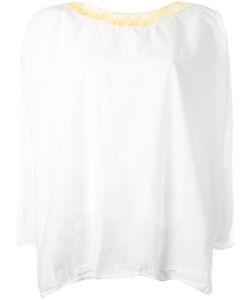 Daniela Gregis | Embroide Collar Longsleeved Shirt Cotton