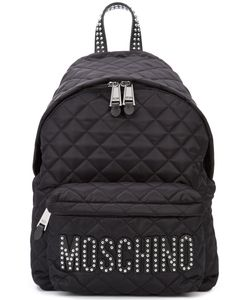 Moschino | Quilted Stud Logo Backpack