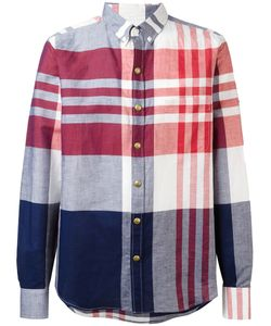 Moncler Gamme Bleu | Checked Long Sleeve Shirt 4 Cotton/Linen/Flax