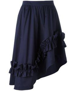Cédric Charlier | Asymmetric Ruffle-Trim Skirt 42 Cotton/Other Fibers