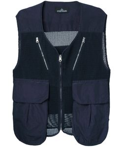 Stone Island Shadow Project | Cargo Pocket Mesh Waistcoat