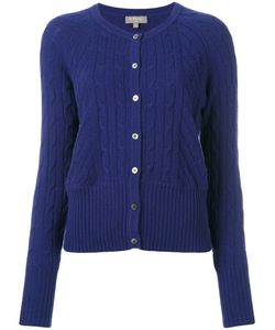 N.Peal | Cropped Cable Cardigan