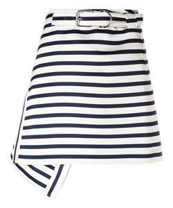 Carven | Striped A-Line Skirt 38