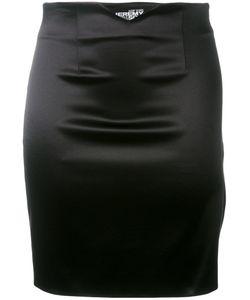 Jeremy Scott | Strapped Back Fitted Skirt Size 44 Cotton/Polyester/Other