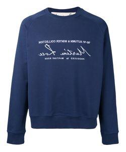 Martine Rose   Classic Embroidered Sweatshirt Size Medium