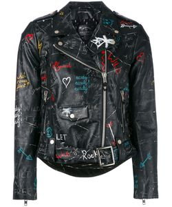 Htc Hollywood Trading Company | Graffiti Biker Jacket