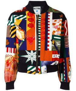 Moschino Vintage | Patchwork Print Bomber Size Small