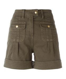 Blumarine | Military Shorts 44 Cotton/Spandex/Elastane