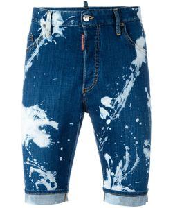 DSquared² | Mod Bleached Denim Shorts 50 Cotton/Spandex/Elastane/Polyester