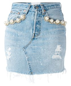 Forte Couture | Pearl Embellished Denim Skirt Size 28