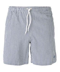 Mp Massimo Piombo | Checked Swim Shorts Size Medium