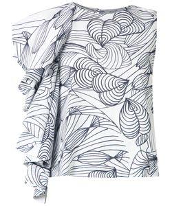 Isolda   Printed Ruffle Blouse Women 40