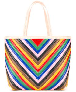 Sara Battaglia | Striped Rainbow Tote Bag Women Silk/Bos