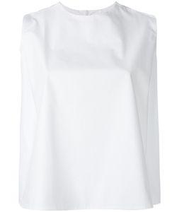 Maison Kitsuné | Flared Crop Blouse Size 36