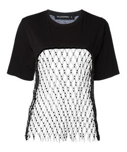 Filles A Papa | Mesh Panel T-Shirt Ii Cotton/Polyester/Sheep