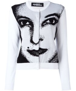 Jeremy Scott | Face Print Cardigan 38 Cotton