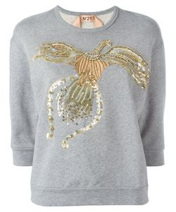 No21   Beaded Animal Jumper 44 Cotton/Pvc/Polyester/Glass
