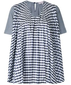 Dice Kayek | Gingham Pleated Blouse Size 40