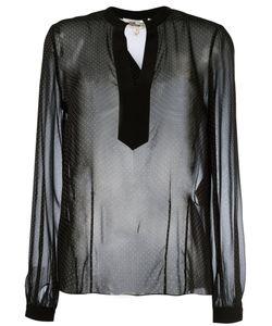 Diane von Furstenberg | Polka Dots Sheer Shirt
