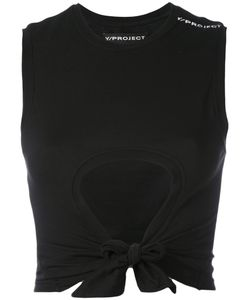 Y / Project | Cut-Detail Cropped Top