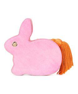 HILLIER BARTLEY   Rabbit Tassel Tail Clutch Cotton/Calf