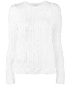 Valentino | Applique Cable Knit Jumper Medium Cotton/Polyester