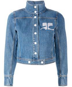 Courrèges | Embroidered Logo Denim Jacket Size 38