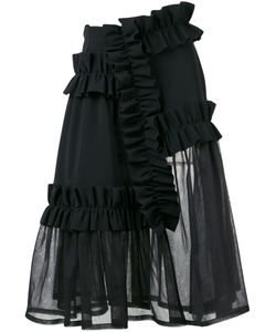 Paskal | Ruffle Panel Sheer Skirt Size Xs