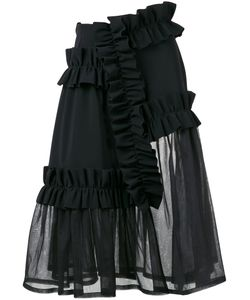 Paskal | Ruffle Panel Sheer Skirt