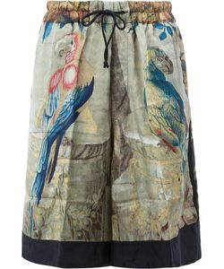 Dries Van Noten | Macaw Print Shorts Size Small