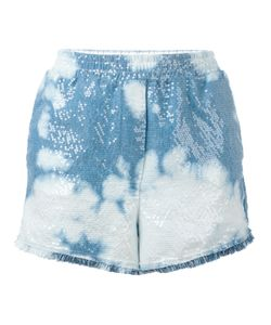 8pm | Sequin Tie-Dye Shorts Small