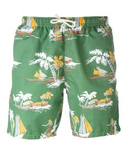 Drumohr | Tropical Print Swim Shorts