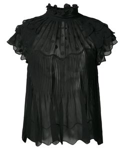 Ulla Johnson | Sheer Polka Dot Ruffle Blouse