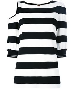 I'M Isola Marras | Striped Cut-Out T-Shirt Size Small