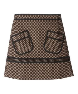 Veronique Leroy | Net Overlay A-Line Skirt