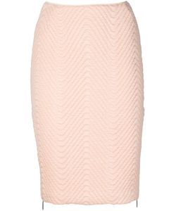 Koonhor | Quilted Chevron Pencil Skirt