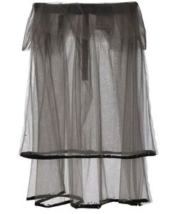 Phoebe English | Double Layered Sheer Skirt